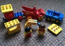 Lego Duplo Workers Set Figures vintage duplo people Vehicles Fire Engine Car