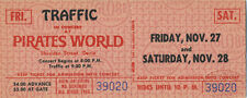 Traffic 1970 Unused Concert Ticket Steve Winwood