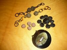 LOT 16 ANTIQUE MIXED  ACCESSORIES SEWING, SNAP, BUTTONS, BUCKLE # 2764