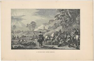 18th C. Infantry & Cavalry -Three 19th Century French Lithograph Military Prints