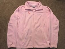Brand Name Womens Pink (Breast Cancer) Full Zipper Fleece, Size Large