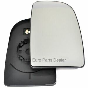 Right Driver side mirror glass with clip for Fiat Ducato 2007-20 Heated