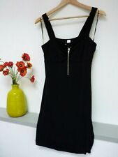 Gorgeous H&M Black Strappy Thigh Length Party Zip Dress Size 12, Used Once