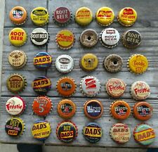 36 DIFF. OLD ROOT BEER SODA Cork-Lined  BOTTLE CAPS NICE LOT DAD'S HIRES OTHERS