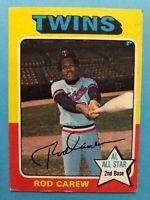 1975 Topps Rod Carew Card #600 Minnesota Twins