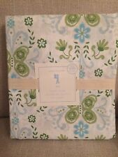 NEW Pottery Barn Kids Green Blue IVY Floral Butterfly Duvet Cover Twin