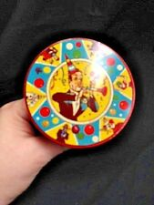 Vtg Tin Us Metal Toy Co. New Years Eve Party Noise Maker Red Round 4""