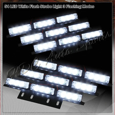 54 LED White Car Truck Emergency Hazard Warn Flash Strobe Light Bar Universal 6