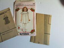 Strawberry Shortcake Girls Dress Pattern Size 2 3 4 Butterick Vintage