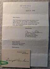New ListingPresident Dwight Eisenhower autograph, with letter signed by Ann Whitman, 1958