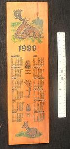 5347 EAST GERMAN/DDR/GDR COLD WAR  ORIGINAL 1988 WOODEN WALL CALENDAR