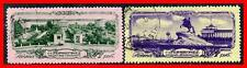 RUSSIA 1953 LENINGRAD SC#1685-86 used ARCHITECTURE,ROYALTY - TZAR on HORSE