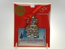 Lenox Holiday Teddy Bear Gift Card Holder NEW IN UNOPENED PACKAGE