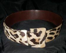 PRADA cintura belt vintage pelle leather cavallino horse fabric size 75 h.5 cm