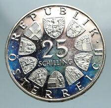 1971 AUSTRIA VIENNA WIENER BOURSE Stock Exchange Proof Silver 25Slng Coin i84174