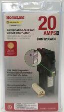 Homeline 20 A Combination Arc Fault Circuit breaker HOM120CAFIC hom120cafi