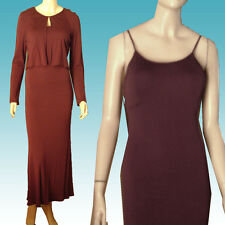 New $890 Jersey Dress & Bolero 12 by ERIC GASKIN NY Burgundy Knit BOOTY HUGGING