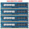 For SK Hynix 32GB 4X8GB 2Rx8 PC3-14900E DDR3-1866Mhz ECC Unbuffered Memory RAM