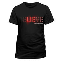 Official American Gods Believe T-Shirt Black NEW Shadow Moon Mr Wednesday S M XL