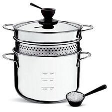 Pastaiola LAGOSTINA lt 5 DOSATORE Cestello e Coperchio cm 22-Pasta Pot Cooker