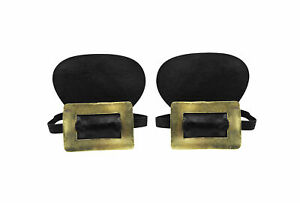 Adult Gold Buckle Colonial Black Shoe Covers Historic Pilgrim Costume Accessory