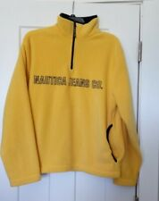 Nautica Jeans Brand Polyester Pullover Yellow  Shirt  size small