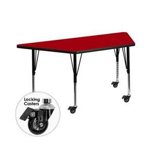 Flash Furniture  Activity Table - XU-A3060-TRAP-RED-T-P-CAS-GG