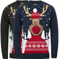 Sleigher Black Mens Christmas Jumper Ebay