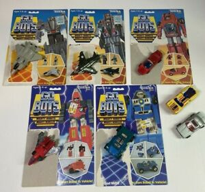 GoBots 80's Tonka LOT Leader 1 Turbo Fitor Royal T w/ card back Transformers