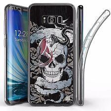 For Samsung Galaxy S8 Plus,Tri Max Transparent Full Body Case Cover SNAKE SKULL