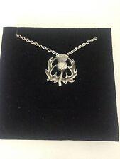 "Thistle R29 Emblem Silver Platinum Plated Necklace 18"""
