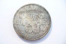 SUPERBE MONNAIE  50 FRANCS  BELGIQUE - 1939 - LEOPOLD III   ARGENT - TTB !