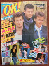 OK ! âge tendre - N°639 (1988) A-HA, Sabrina, Felix Gray, Gérard Blanc...