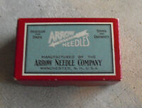Vintage Arrow Latch Needles Empty Cardboard Box