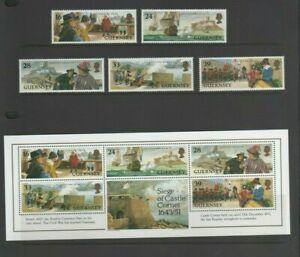Guernsey 1993 Siege of Castle Cornet Mint MNH Set & Mini Sheet