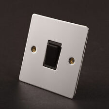 Chrome Single Light Switche Home Electrical Fittings