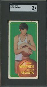 1970-71 Topps Basketball #123 Pete Maravich Atlanta HOF SGC 2 Good