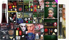 Nuevo Halloween Rostro Maquillaje Kit Vampiro Zombie Diablo Bruja sangre cicatriz Set