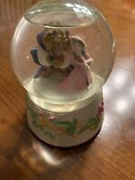 Vintage Schmid Disney's Beauty and the Beast Spinning Musical Snow Globe