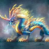 Full drill Diamond Painting Chinese Dragon God beast Embroidery Handicraft 6452#