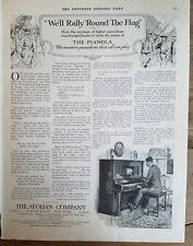 1917 Aeolian pianola piano will rally around the flag ad