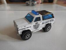 Matchbox 4X4 Chevy Blazer Police in White/Black