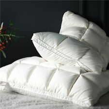 2Pcs White Natural Down Pillows Sleeping Down Pillow Cotton Downproof Pillows