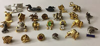 Lot of 24 Assorted Vintage to Modern Mixed Animal Tack Lapel Tie Pins Jewelry