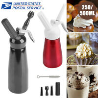 Whipped Cream Dispenser Stainless Steel 250/500 ml Professional Whipper Maker US
