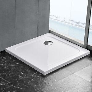 [neu.haus] Duschwanne 80x80cm reinweiß Duschtasse quadratisch extra flach Bad