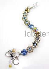 MARIANA MOONDROPS MOSAIC BRACELET Large Swarovski Crystal Sapphire Blue Topaz