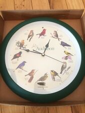 Audubon Singing Bird Clock 13 Inch Green Matte
