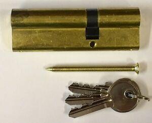 Zone 35/60 Euro Door Cylinder Brass,    Key & Key, 3 Keys