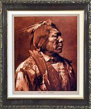 Lone Flag - Atsina Native American Mahogany Framed Picture Art Print (20x24)